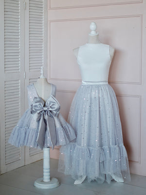 Long Tutu Skirt Adult Size | Stardust in Gray
