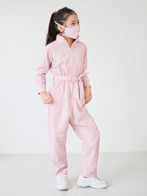 Utility Coveralls Set with Mask | Misty Rose