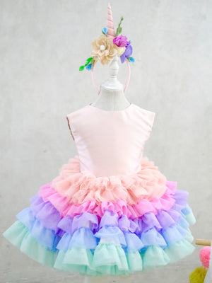 Unicorn Tutu Dress & Headpiece Set