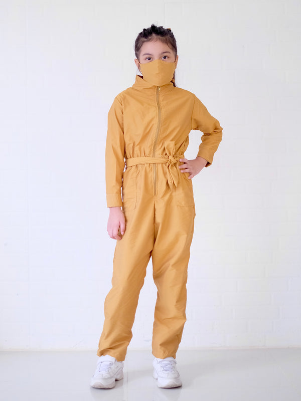 Utility Coveralls Set with Mask | Mustard