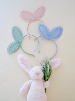 Bunny Ear Dotted Lace Headband