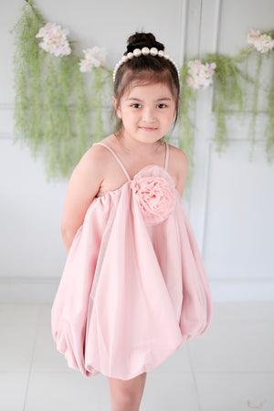 Rosette Bubble Dress | Blush