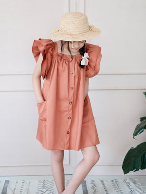 Esmae Dress | Rust