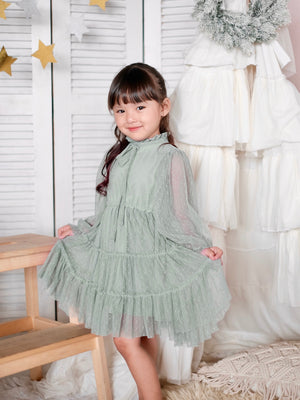 Anya Dress | Sage | Model Worn Sample