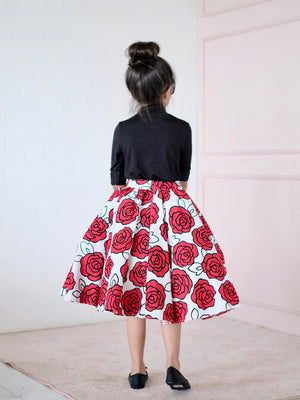 Doris Full Volume Midi Skirt- Backorder/EDD 1.25.2019