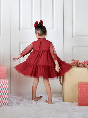 Bertha Doll Dress | Cherry Red | Set with Bow