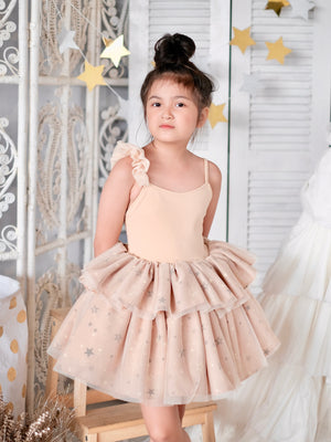 Skylar Tutu Dress | Champagne