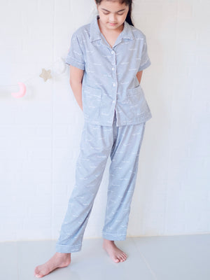 Nite Nite Pajama Set | Blue
