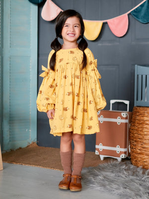 Jillian Dress | Hedgehog print