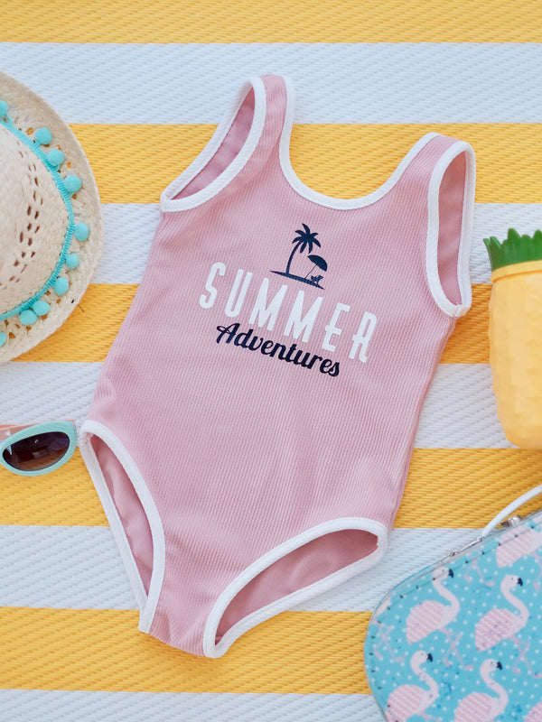 Summer Adventures Bodysuit | Pink
