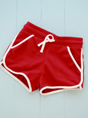 Ringer Shorts | Red