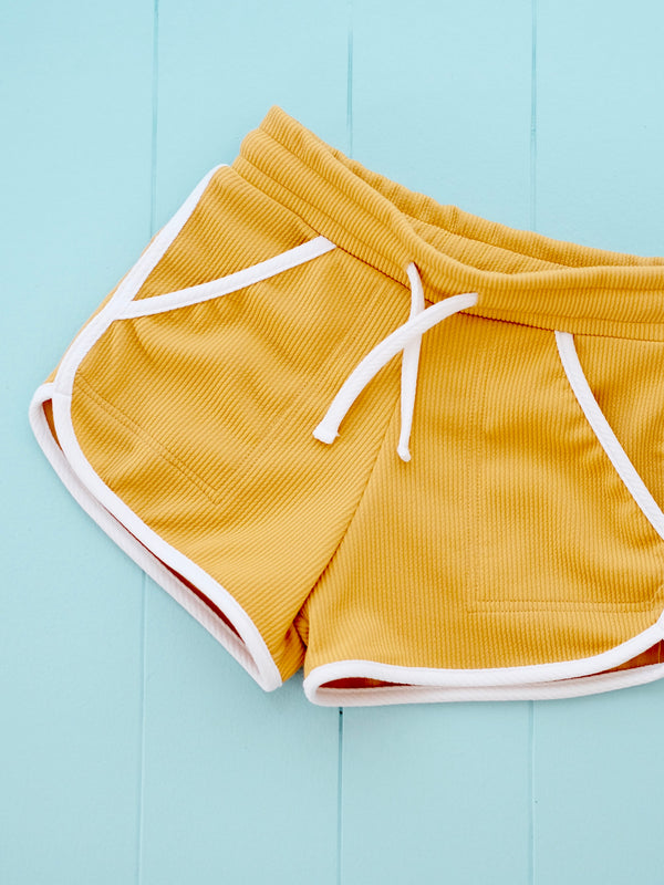 Ringer Shorts | Yellow