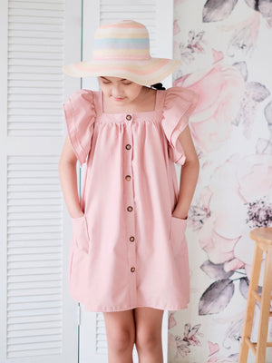 Esmae Linen Dress | Pink