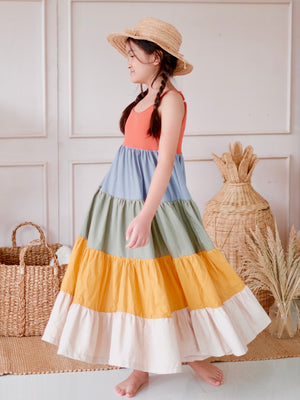 Calliope Color Block Midi