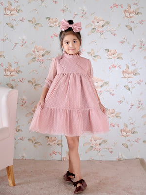 Bertha Doll Dress | Pink | Set with Bow