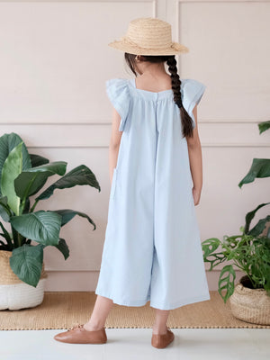 Kaia Light Blue Capri Jumpsuit