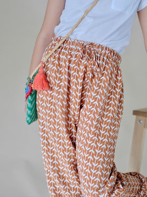 Selma Pants with Headwrap (Ochre)