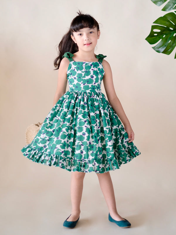Darci Dress / Green Poppy