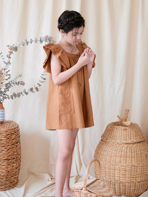 Nola Playsuit | Caramel