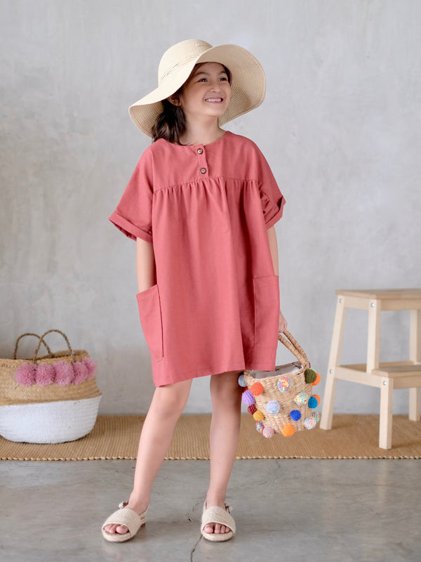 Mya Dress (Dark Salmon)