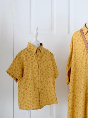 Button Down Shirt / Mustard Bunny