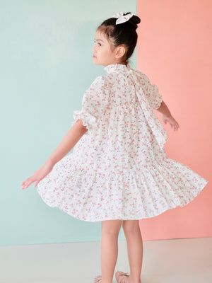 Bertha Dress Set with Bow | Pink Cherry