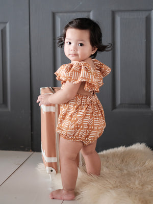 Meggy Romper with Bow Headband | Ochre
