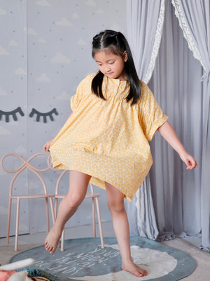 Mya Dress | Lounge Yellow