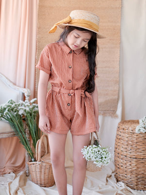 Nanie Playsuit | Cinnamon Stripes