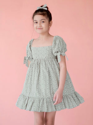Maisie Dress Set with Bow | Floral Sage