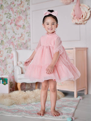Bertha Doll Dress (Set with Bow / Blush)