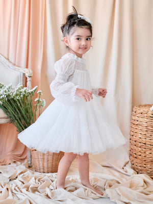 Cordelia Dress With Bow Clip | White