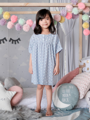 Mya Dress | Lounge Powder Blue