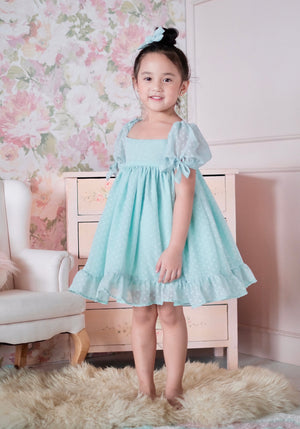 Maisie Dress (Set with Bow / Mint)