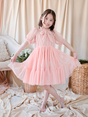 Celeste Dress in Light Coral