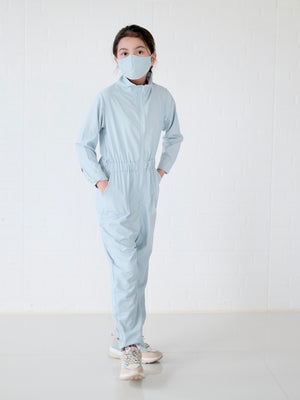 Utility Coveralls Set with Mask | Powder Blue
