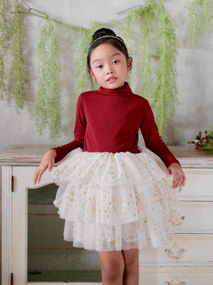 Idris Tutu Dress | Burgundy