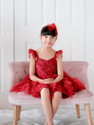 Laurette Tutu Dress | Red
