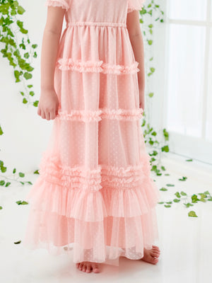Ivy Dotted Tulle Dress | Blush