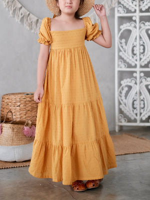Fiore Maxi Dress with Bow Sash