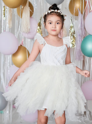 Laurette Tutu Dress | Egg Shell