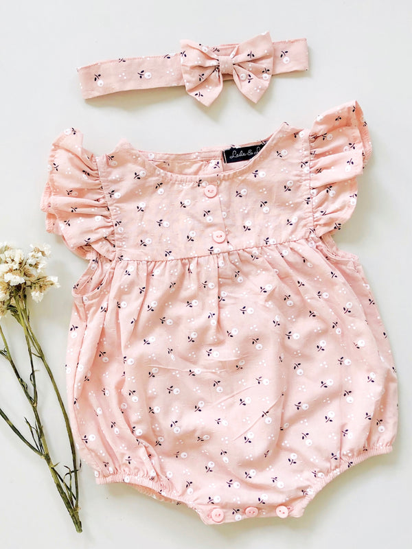 Nina Romper | Blush | Set with Headband