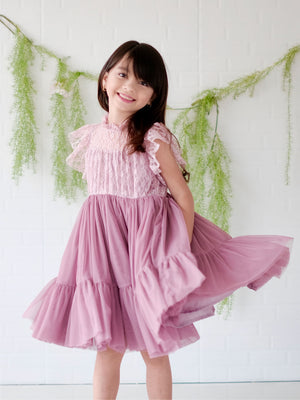Lulu Dress | Set with Bow | Mauve