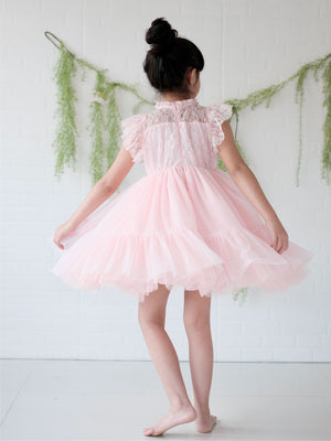 Lulu Dress | Set with Bow | Baby Pink
