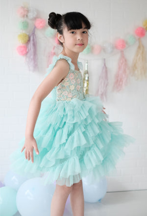 Lyra Tutu Dress | Minty Floral