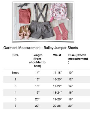 Bailey Jumper Shorts w Headband/Bow Tie (Gull Gray)