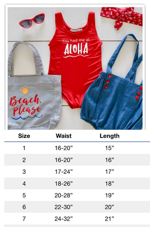 You Had Me at Aloha Swimsuit