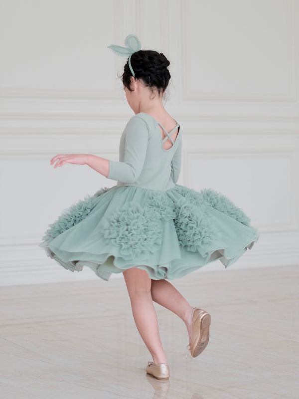 Florence Tutu Dress (Sage) - Ready to Ship