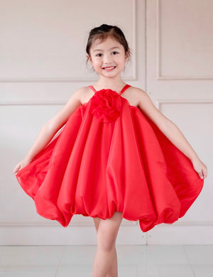 Rosette Bubble Dress | Rouge