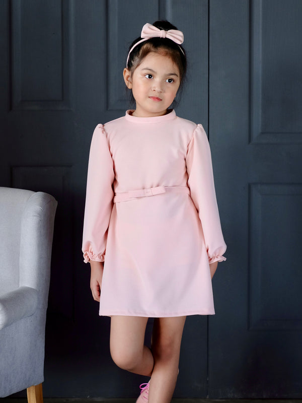 Azalea Mini-Dress (Set with bow headband and belt)